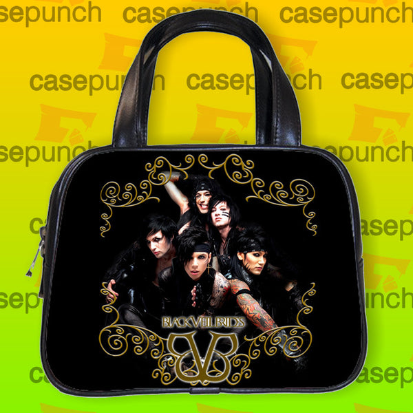 An1-black Veil Brides Andy Rock N Roll Handbag Purse Woman Bag Classic