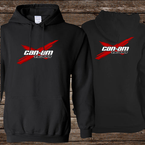 Can Am Team X Red Logo [BLACK] 2SIDE