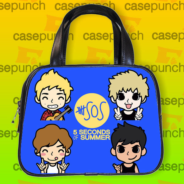 An1-cartoon Faces 5 Sos Handbag Purse Woman Bag Classic