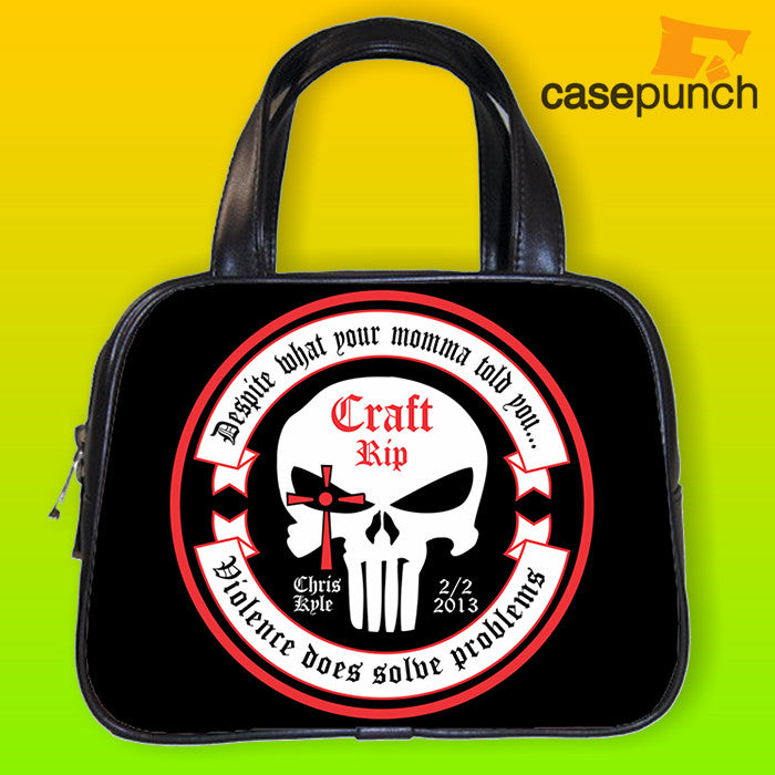 An1-chris Kyle American Sniper Punisher Logo Handbag Purse Woman Bag Classic