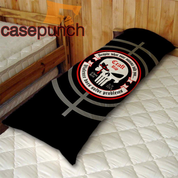 An1-chris Kyle American Sniper Punisher Logo Body Pillow Case
