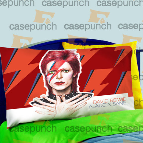 Mz7-david Bowie Ziggy Stardust Vintage Pillow Case For Bed Bedding