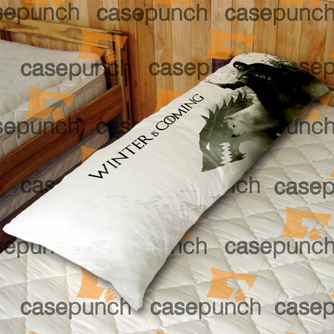 An1-direwolf Game Of Thrones Body Pillow Case