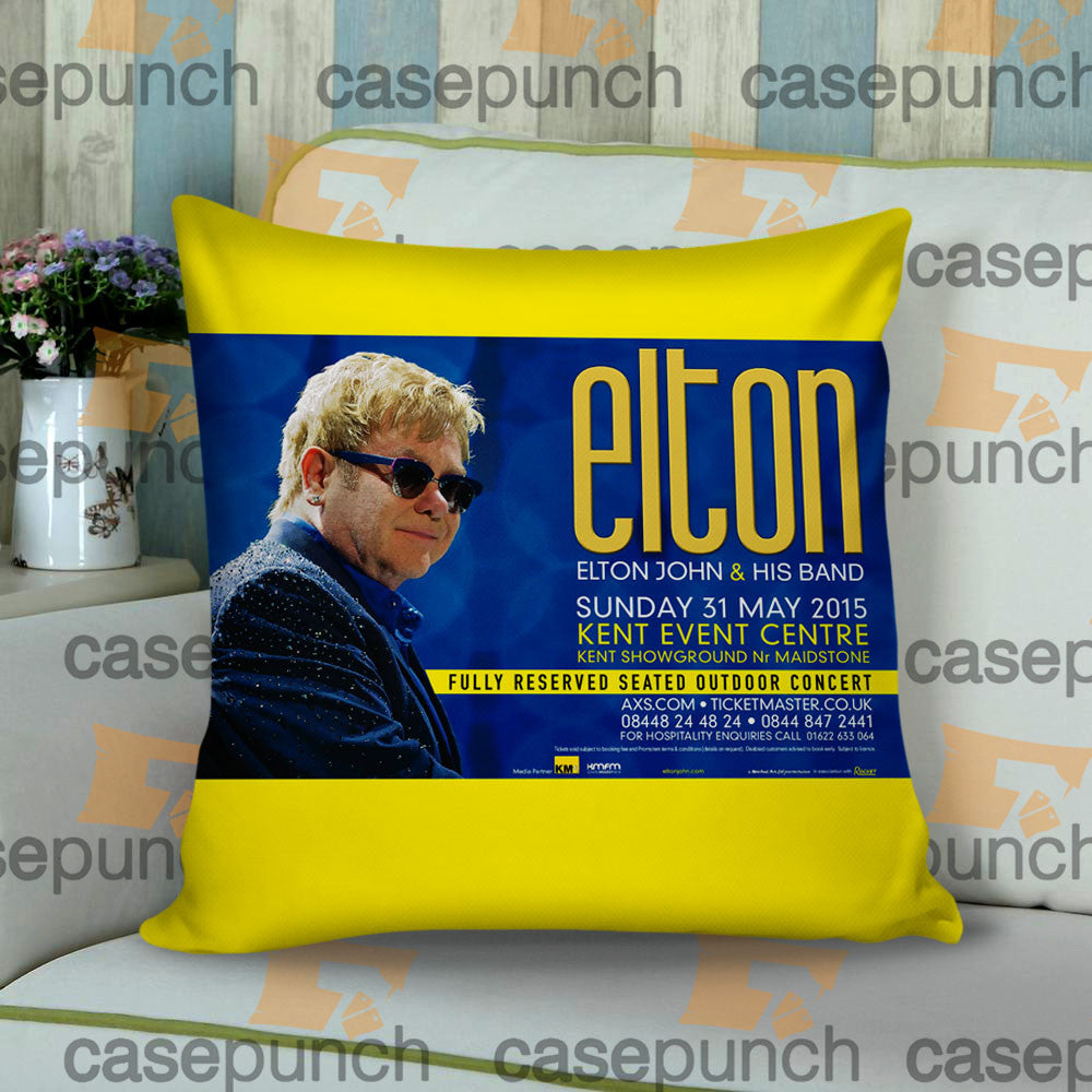Sr1-elton John & His Band 2015 Tour Cushion Pillow Case