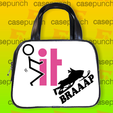 An1-fck It Braaap Sled Handbag Purse Woman Bag Classic