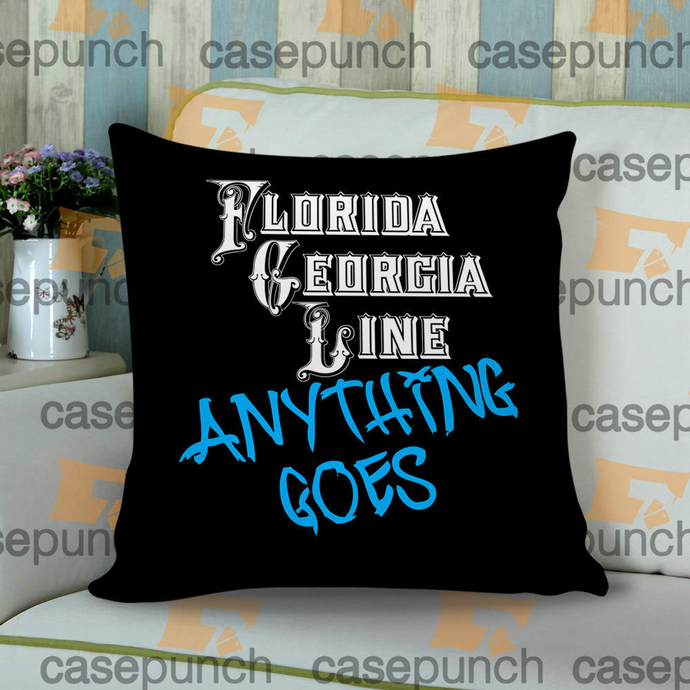 Sr3-florida Georgia Line Anything Goes Tour 2015 Cushion Pillow Case