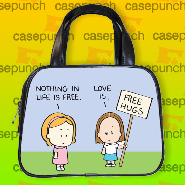 An1-funny Free Hugs Graphic Handbag Purse Woman Bag Classic