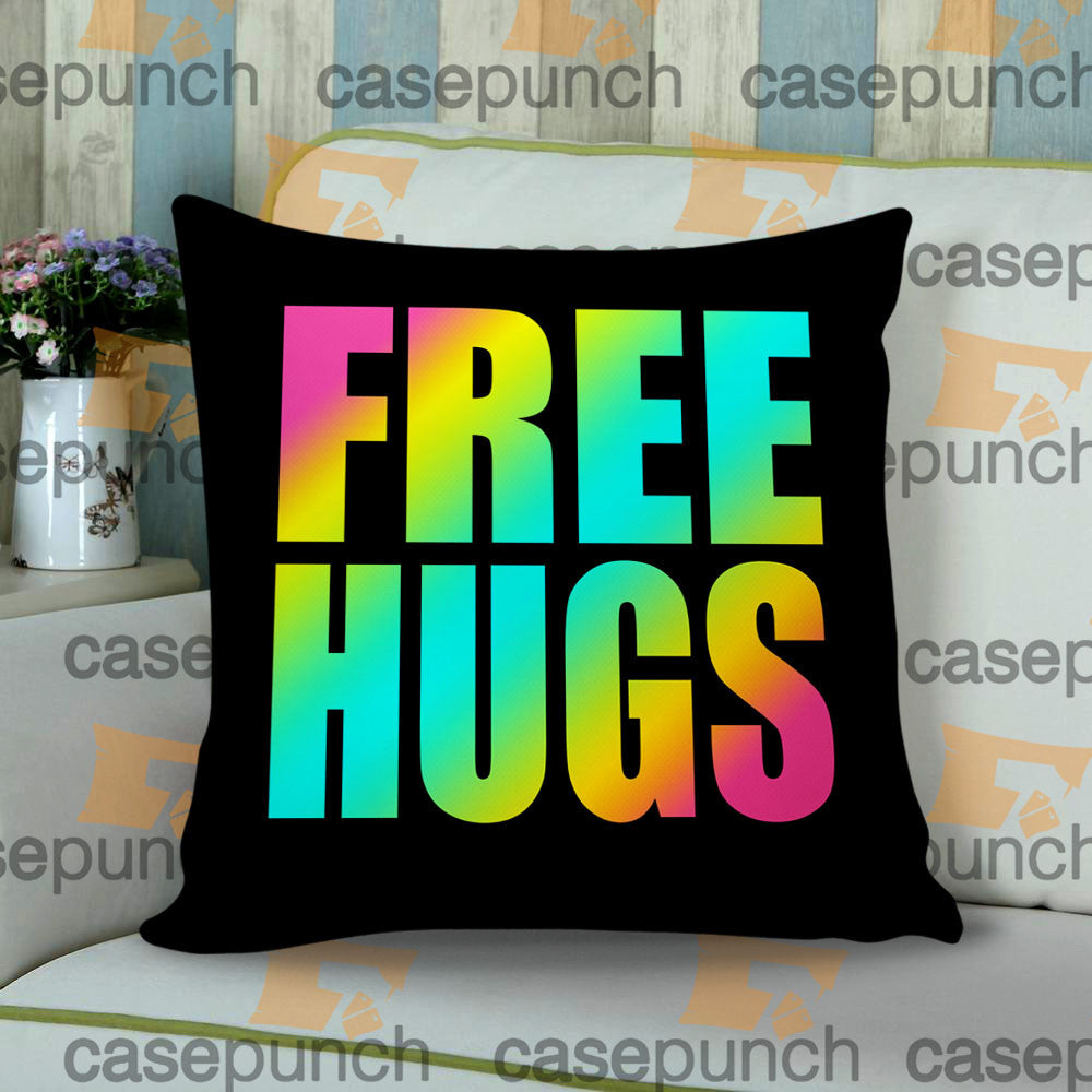 Sr3-funny Free Hugs Graphic Throw Pillow Cushion Case