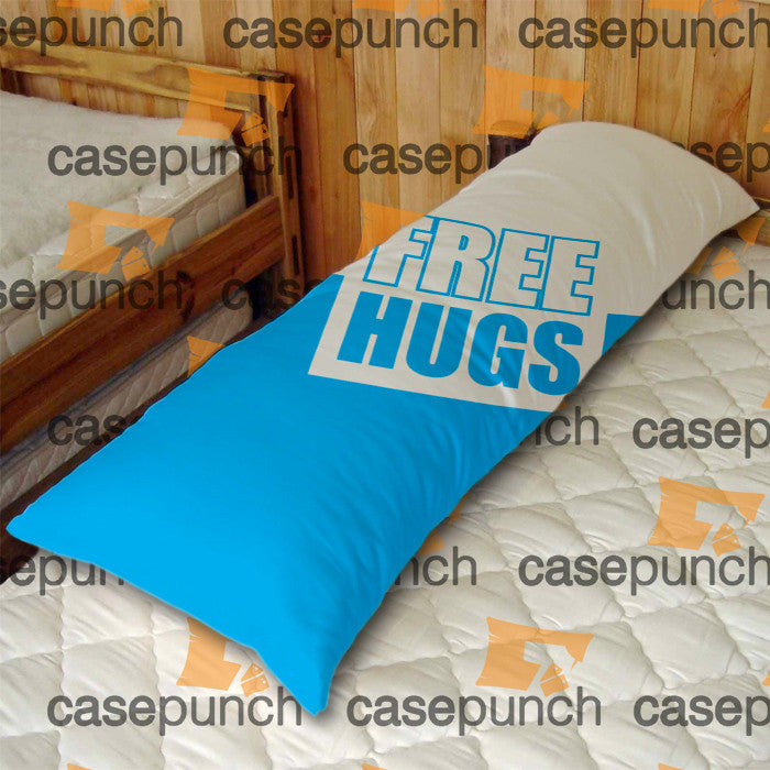 An4-funny Free Hugs Graphic Body Pillow Case
