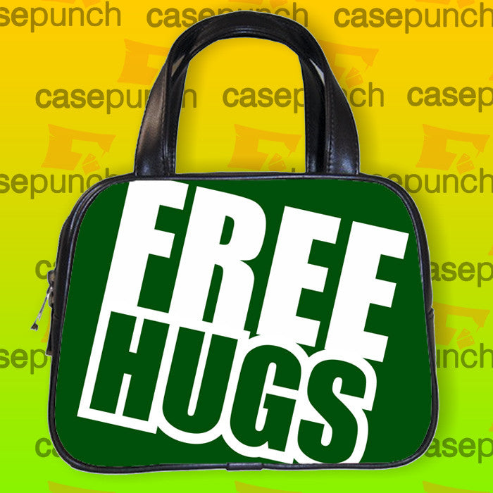 An4-funny Free Hugs Graphic Handbag Purse Woman Bag Classic