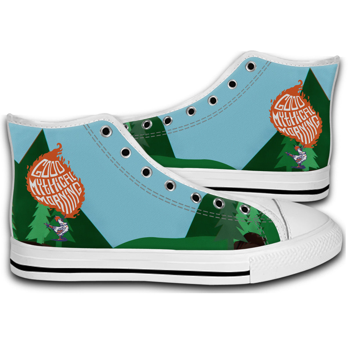 best service 70786 2e618 Good Mythical Morning Funny Canvas Style Shoes Fashion Sneakers