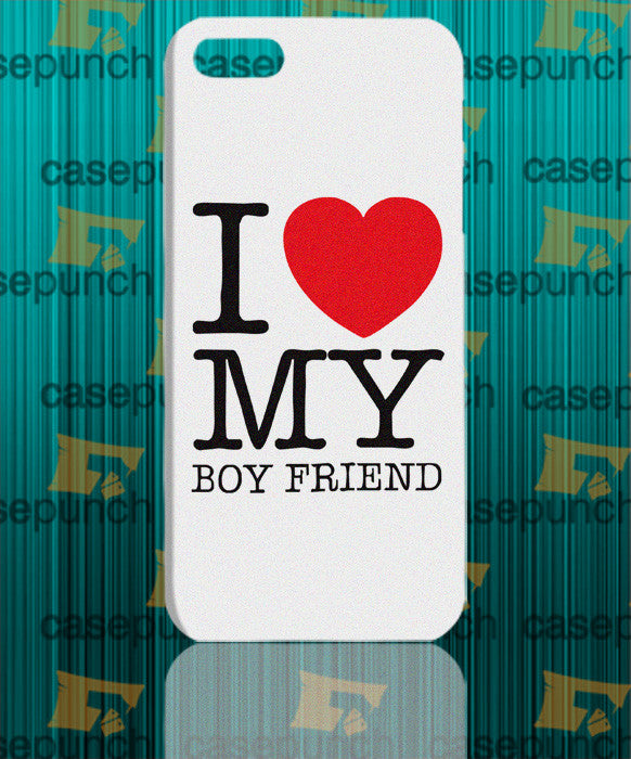 Mz2-i Love My Crazy Boyfriend Valentine Humor For Iphone 6 6 Plus 5 5s Galaxy S5 S5 Mini S4 & Other Smartphone Hard Back Case Cover