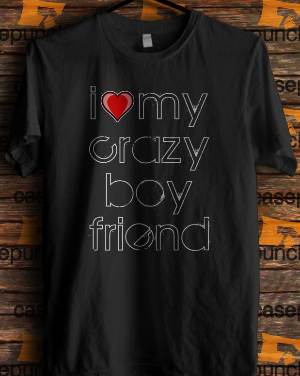 Sr2-i Love My Crazy Boyfriend Valentine Humor (longsleeve Crop Top Tank Top & Hoodie Available)