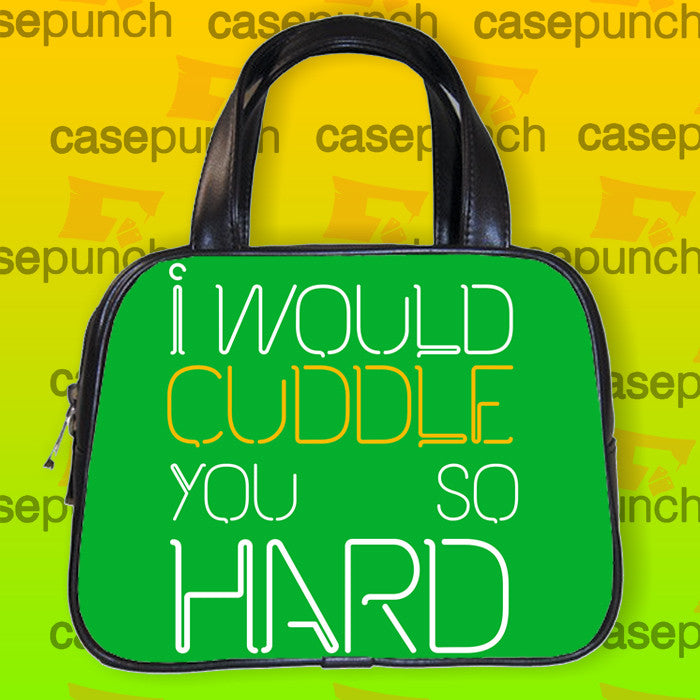 An2-i Would Cuddle You So Hard Funny Handbag Purse Woman Bag Classic