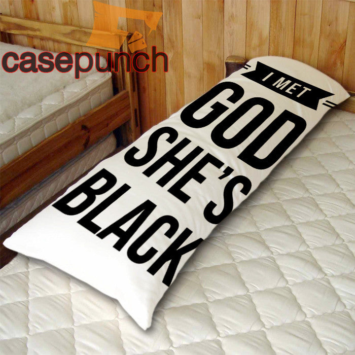 An1-i Met God She's Black Cara Delevigne Body Pillow Case