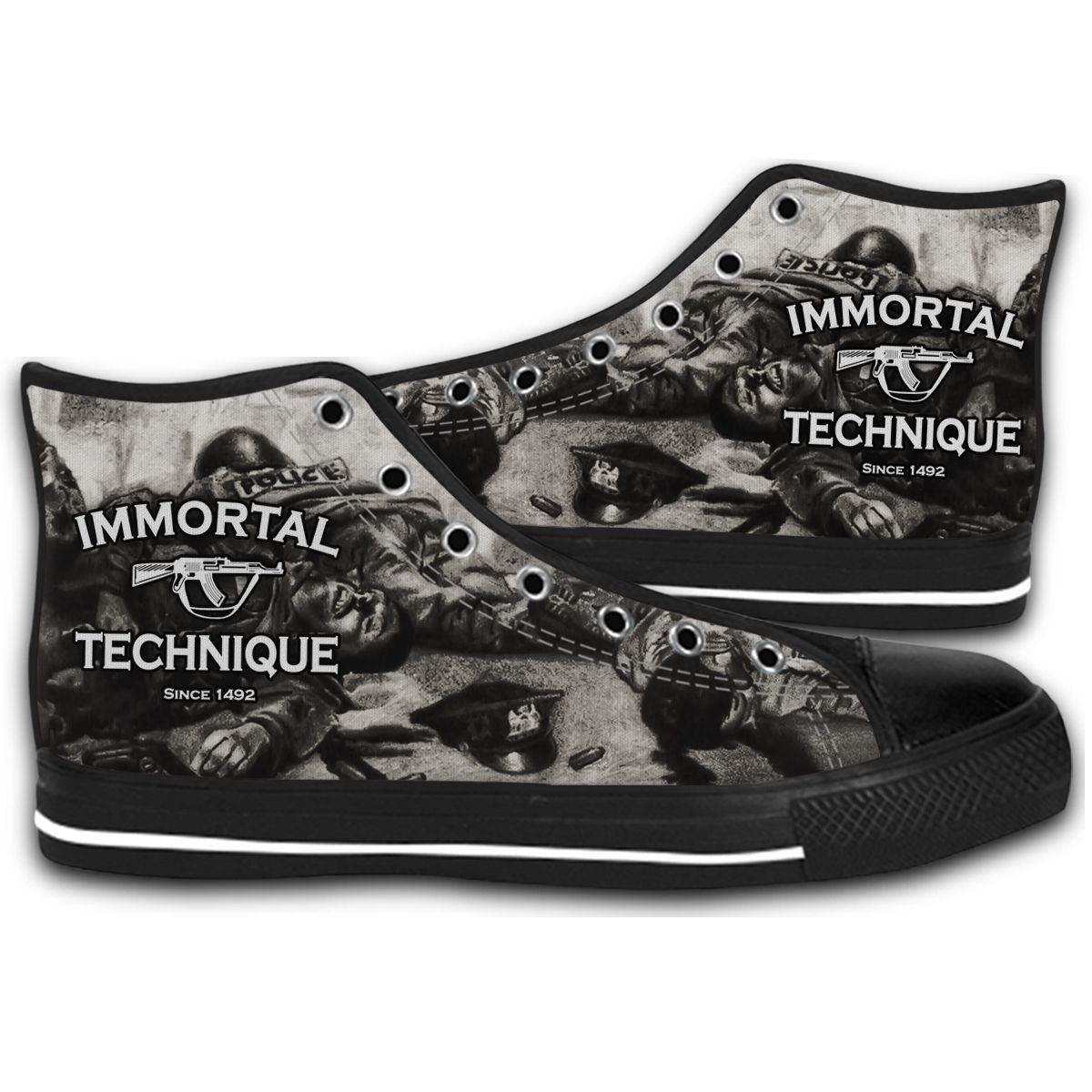 d1f47a0f16ccd Immortal Technique Rock Band Music Logo CANVAS STYLE SHOES FASHION ...