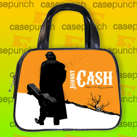 An1-johnny Cash Rock Guitar Handbag Purse Woman Bag Classic