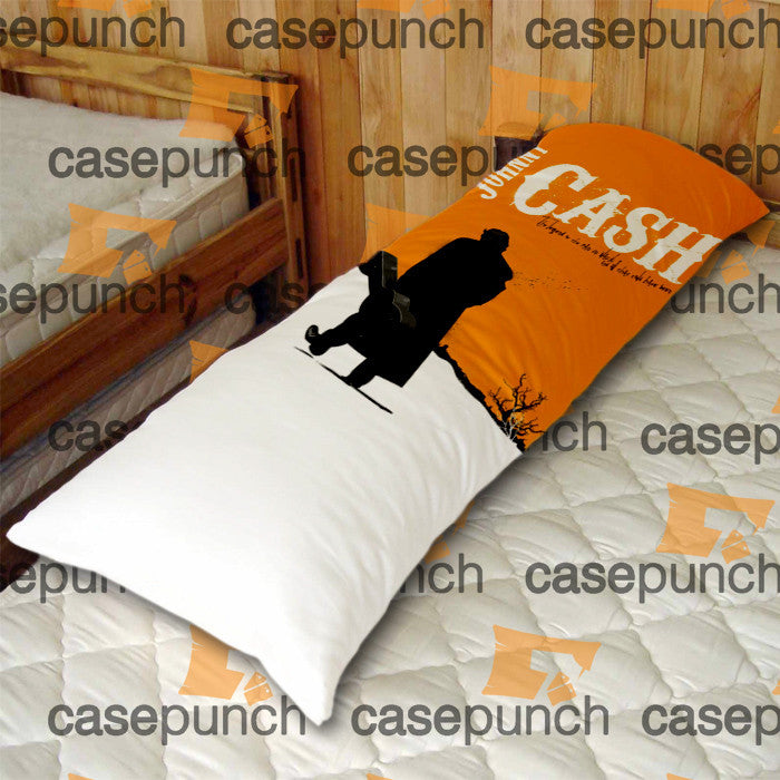 An1-johnny Cash Rock Guitar Body Pillow Case