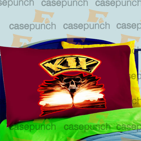 Mz6-kix Blow My Fuse Rock Band Pillow Case For Bed Bedding