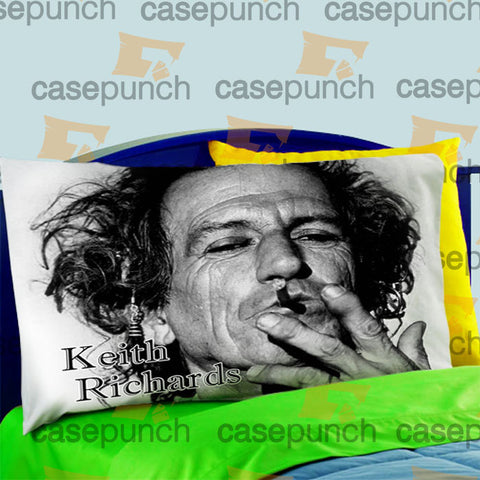 Mz7-kiwi Keith Richards Pillow Case For Bed Bedding