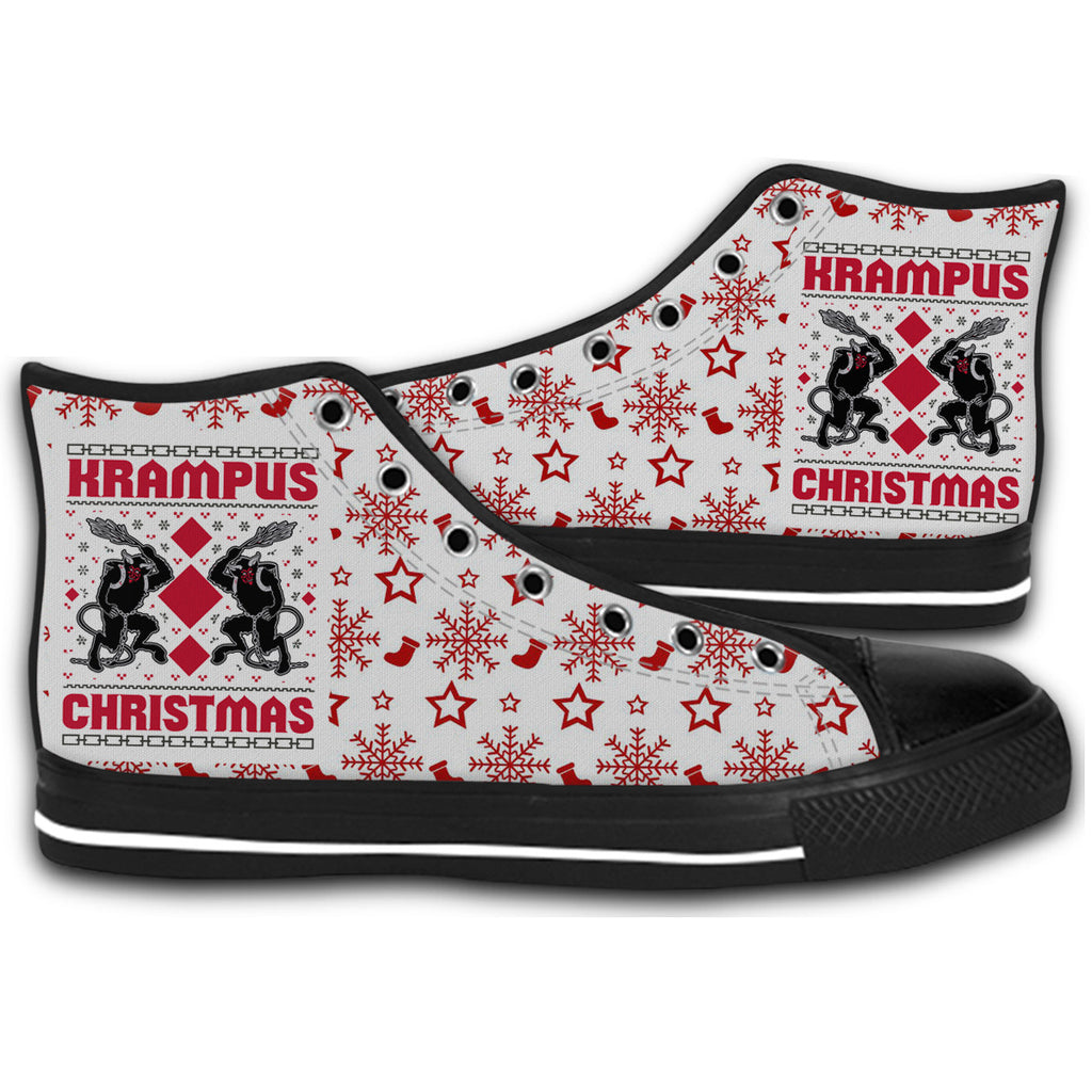 Christmas Sneakers.Krampus Christmas Ugly Christmas Canvas Style Shoes Fashion Sneakers