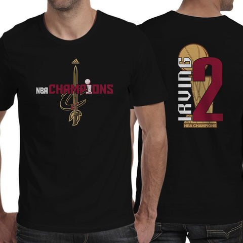 Kyrie Irving Black Cleveland Cavaliers 2016 NBA Finals Champions two side T-shirt (longsleeve Crop Top Tank Top & Hoodie Available)