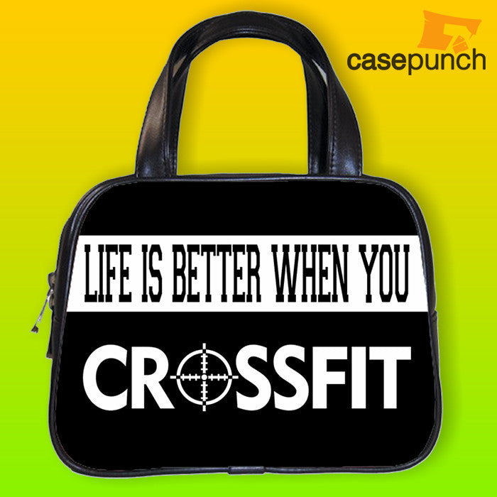 An1-life Is Better When You Crossfit Handbag Purse Woman Bag Classic