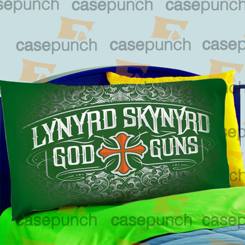 Mz7-lynyrd Skynyrd God And Guns Rock Pillow Case For Bed Bedding