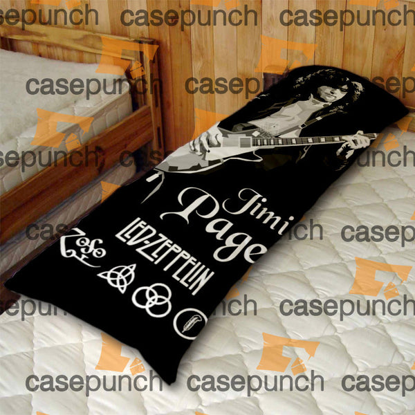 An1-led Zeppelin Classic Jimmy Page Guitar Body Pillow Case