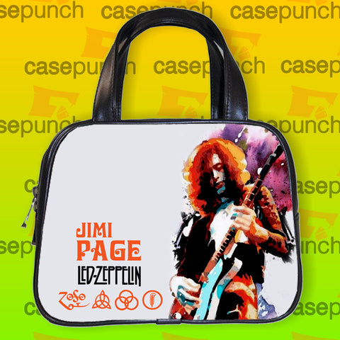 An1-led Zeppelin Classic Jimmy Page Guitar Handbag Purse Woman Bag Classic