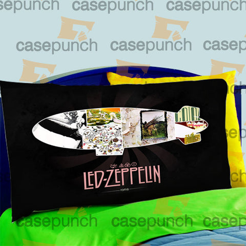 Mz7-led Zeppelin Classic Jimmy Page Guitar Pillow Case For Bed Bedding
