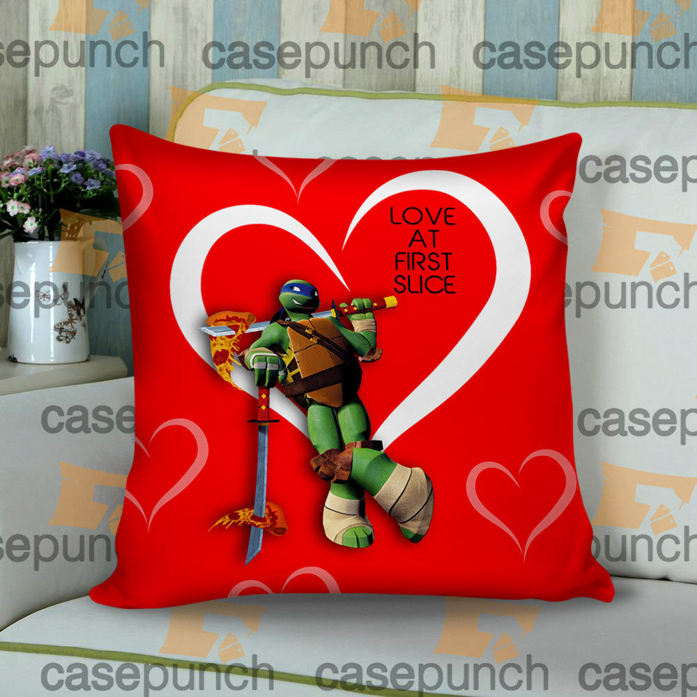 Sr2-love At First Slice Valentine's Day Cushion Pillow Case
