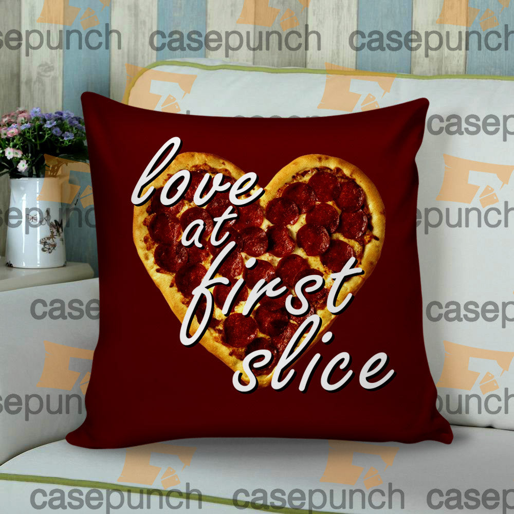 Sr3-love At First Slice Valentine's Day Cushion Pillow Case