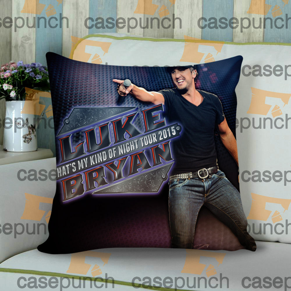 Sr1-luke Bryan That's My Kind Of Night Tour 2015 Cushion Pillow Case