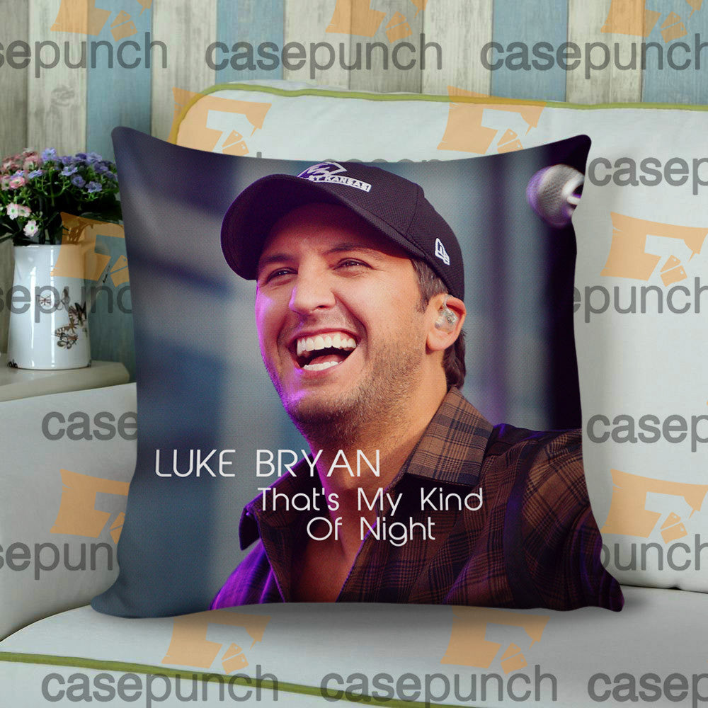 Sr6-luke Bryan That's My Kind Of Night Tour 2015 Cushion Pillow Case