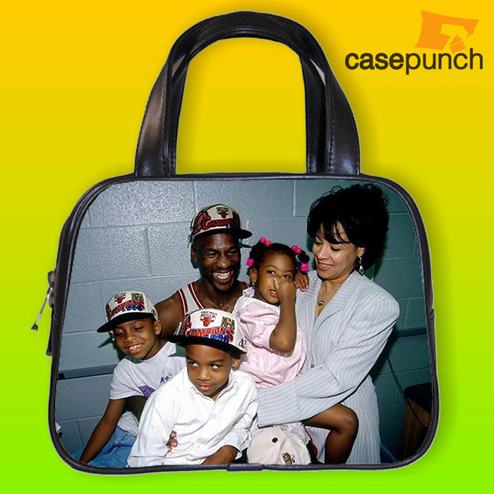 An1-michael Jordan Family Photo Vintage Handbag Purse Woman Bag Classic