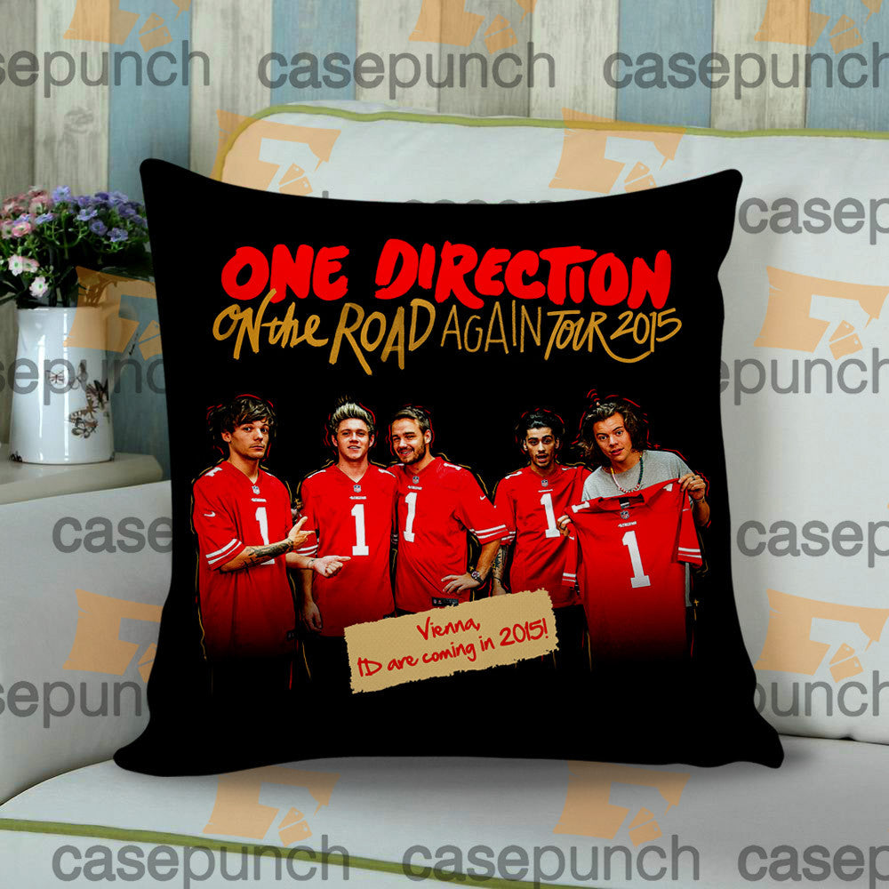 Sr2-one Direction On The Road Again Tour 2015 Cushion Pillow Case