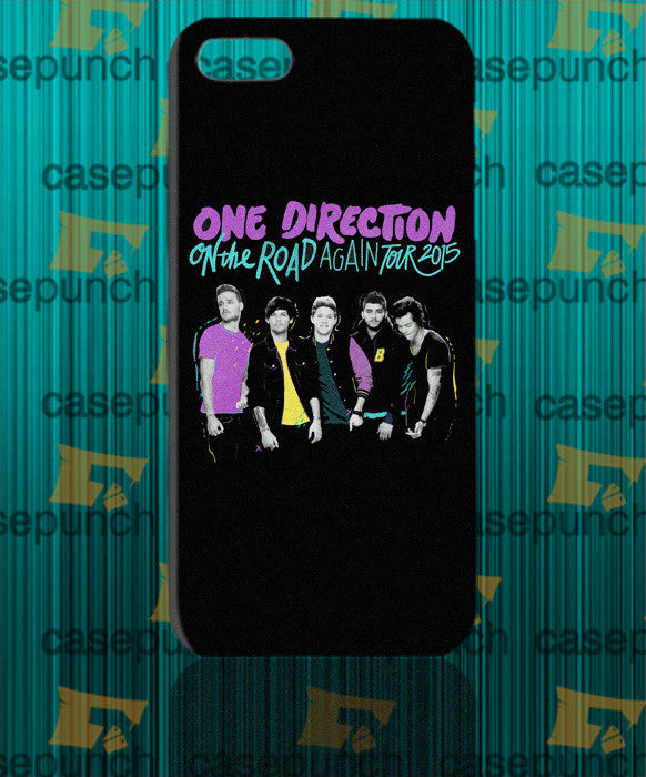 Mz4-one Direction On The Road Again Tour 2015 For Iphone 6 6 Plus 5 5s Galaxy S5 S5 Mini S4 & Other Smartphone Hard Back Case Cover