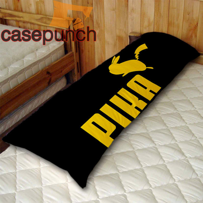 An1-pika Pikachu Funny Puma Parody Body Pillow Case