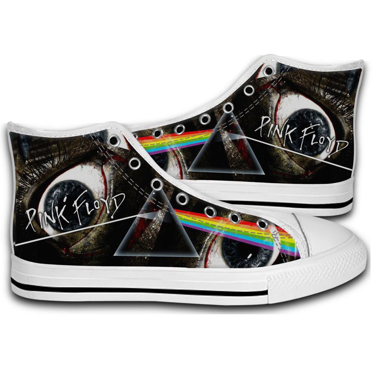 0f480cd19a1834 Pink Floyd Band Logo CANVAS STYLE SHOES FASHION SNEAKERS