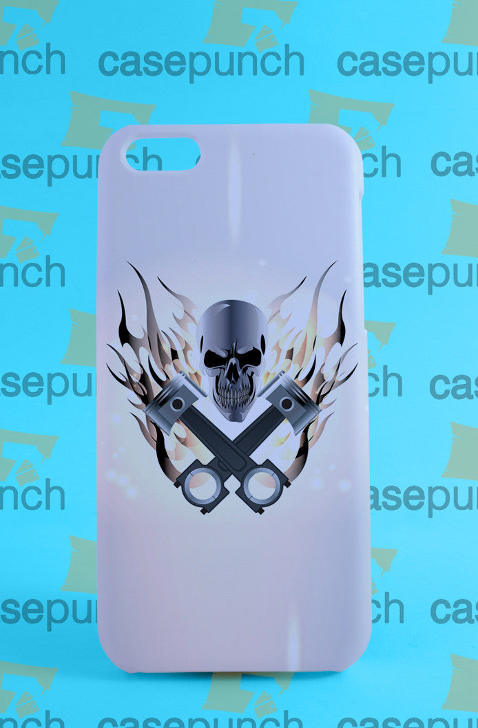 Mz3-pistons Skull Powerstroke Logo For Iphone 6 6 Plus 5 5s Galaxy S6 S5 S5 Mini S4 & Other Smartphone Hard Back Case Cover