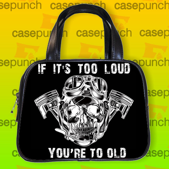 An4-pistons Skull Powerstroke Logo Handbag Purse Woman Bag Classic