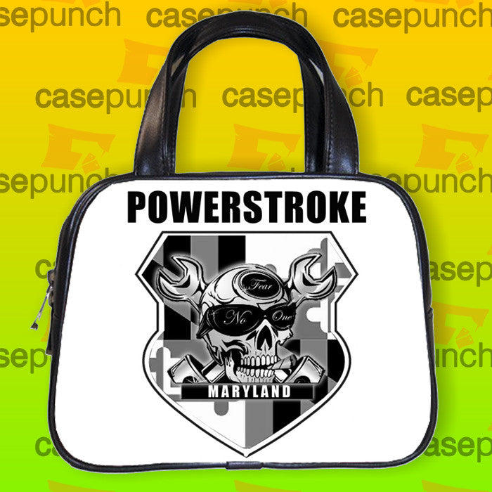 An5-pistons Skull Powerstroke Logo Handbag Purse Woman Bag Classic