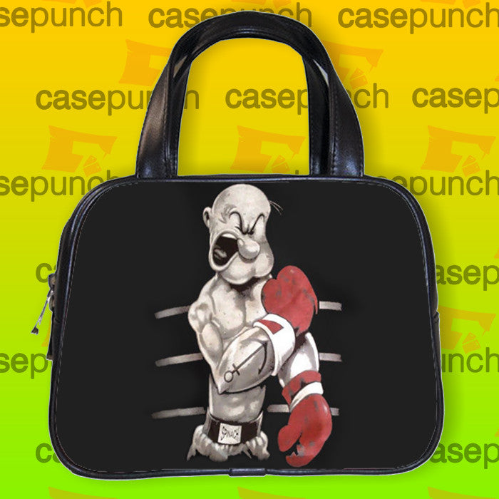 An1-popeye Boxing Funny Cartoon Handbag Purse Woman Bag Classic
