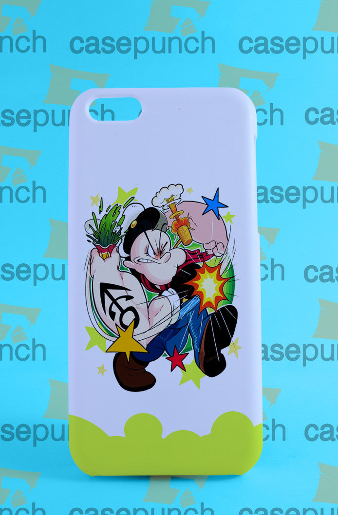 Mz5-popeye Boxing Funny Cartoon For Iphone 6 6 Plus 5 5s Galaxy S6 S5 S5 Mini S4 & Other Smartphone Hard Back Case Cover