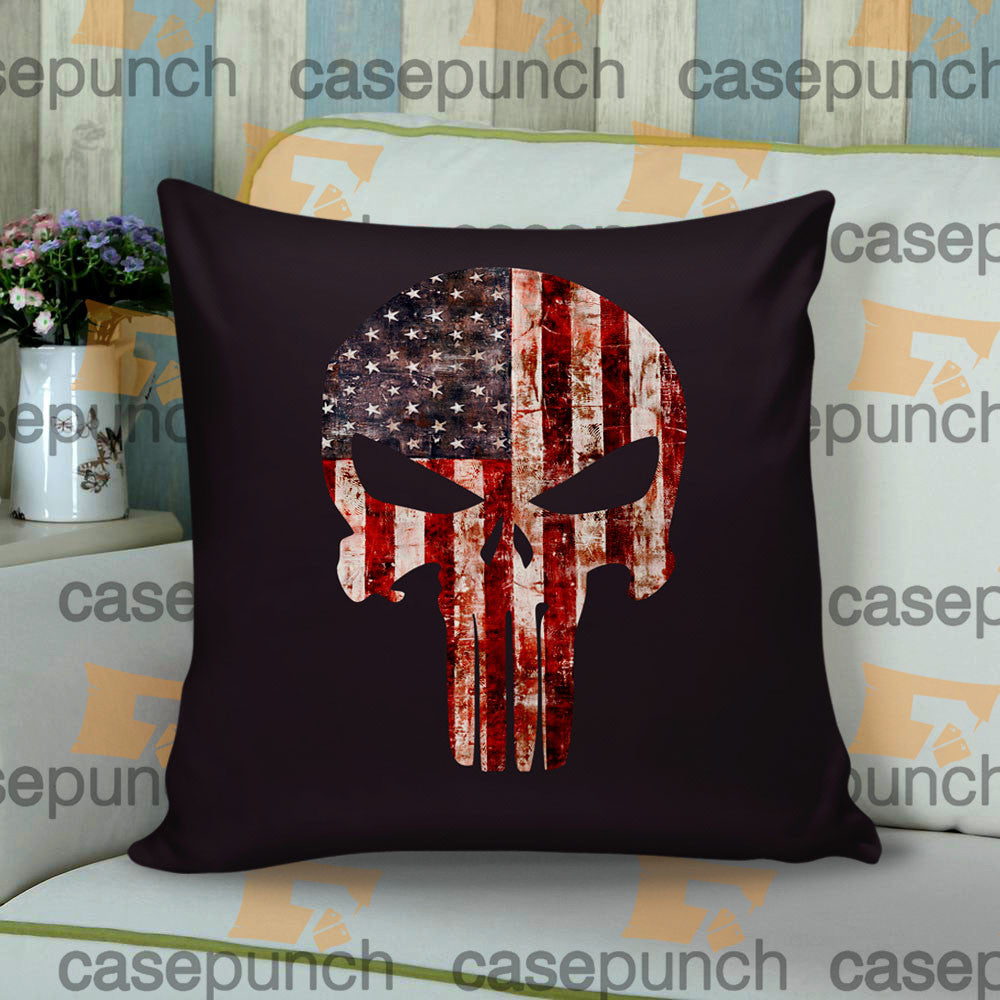 Sr2-punisher Army American Flag Logo Throw Pillow Cushion Case