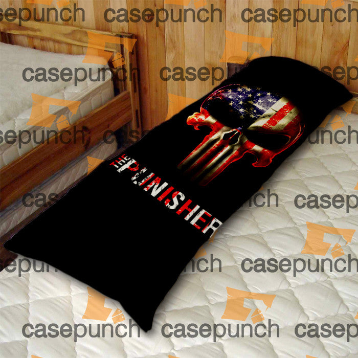 An3-punisher Army American Flag Logo Body Pillow Case