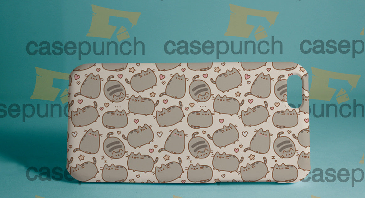 Mz1-pusheen Cat So Lazy Can't Move For Iphone 6 6 Plus 5 5s Galaxy S5 S5 Mini S4 & Other Smartphone Hard Back Case Cover
