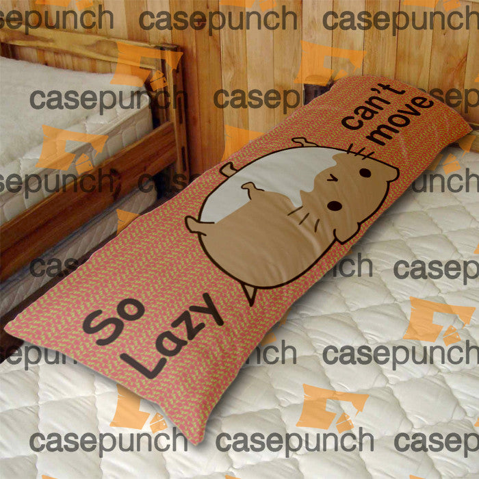 An2-pusheen Cat So Lazy Can't Move Body Pillow Case