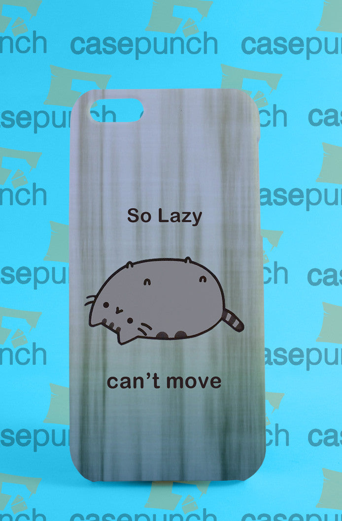 Mz2-pusheen Cat So Lazy Can't Move For Iphone 6 6 Plus 5 5s Galaxy S5 S5 Mini S4 & Other Smartphone Hard Back Case Cover